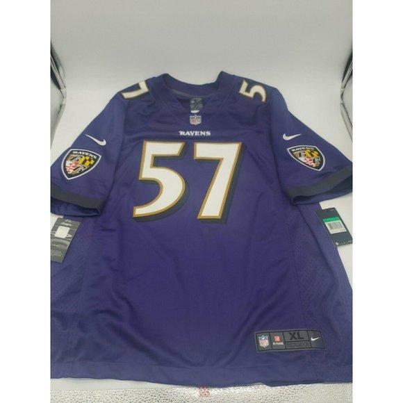 Nike NFL Ravens CJ Mosley On Field Stitched Jersey